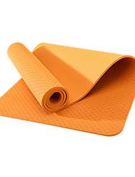 TPE Mats Yoga Eco-friendly Inodore 6 mm Rosa Verde Arancione Viola Azzurro cielo Other