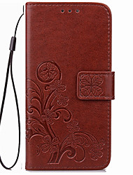 Pour Portefeuille Porte Carte Coque Coque Intégrale Coque Couleur Pleine Flexible Cuir PU pour SonySony Xperia X Performance Sony Xperia