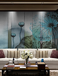 Art Deco Wallpaper For Home Wall Covering Canvas Adhesive required Mural Simple Blue Ink Painting Landscape XXXL(448*280cm)XXL(416*254cm)XL(312*219cm)