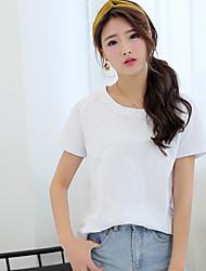 signe coton à manches courtes femmes t-shirt 2017 été couleur unie simples étudiants coréens compatissants sauvages blouse