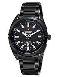 NAVIFORCE Pánské Sportovní hodinky Módní hodinky Náramkové hodinky Křemenný Kalendář Voděodolné Odolný vůči nárazu Slitina KapelaRetro