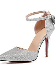 Homme-Mariage-Noir Argent Or-Talon Aiguille-Flower Girl Chaussures-Sandales-Paillette