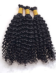 3pcs/lot Mongolian Kinky Curly Human Braiding Hair Bulk Crochet Braid Hair Extensions Afro Kinky Curly Bulk Hair
