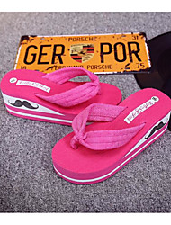 2016 latest summer slope with thick crust muffin female flip flops with a lace cloth sandals sandals Korean wave