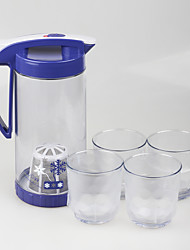 Food Grade 5 pcs Set Airtight Drink Pitchers with Handle
