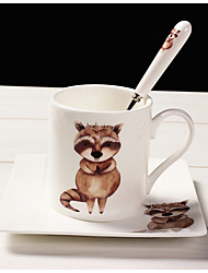 Cartoon Drinkware, 200 ml Portable Ceramic Coffee Milk Coffee Mug Travel Mugs
