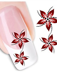 1sheet  Water Transfer Nail Art Sticker Decal XF1459