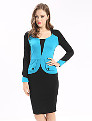 Maxlindy Women's Going out Casual/Daily Work Vintage Bodycon Dress