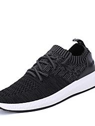 HombreConfort Suelas con luz-Zapatillas de Atletismo-Oficina y Trabajo Informal Deporte-Satén-Negro Gris Gris oscuro