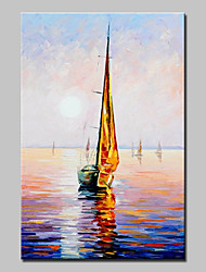 Hand-Painted Sailing Oil Painting On Canvas Modern Abstract Wall Art Pictures For Home Decoration One Panel Ready To Hang