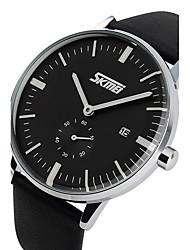 SKMEI Fashion Simple Waterproof Large Dial Business Belt Watch