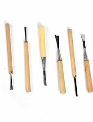 handmade gravação faca marcenaria gravação faca liga de faca de aço set (6pcs 1 jogo)
