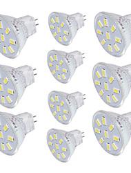 3W GU4(MR11) Spot LED MR11 9 SMD 5733 150 lm Blanc Chaud Blanc Froid Décorative V 10 pièces