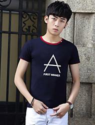 Amoi Mode für Männer&# 39; s Rundhals Kurzarm T-Shirt nehmen koreanische Version der beiläufigen Sport Kurzhülse T-Shirt jugendlich