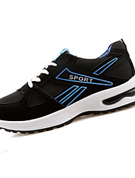 Men's Athletic Shoes Spring Fall Comfort Tulle Outdoor Athletic Casual Flat Heel Lace-up Blue/Black Black/Yellow Black/Red Other