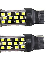 High Power White  10W T20 7443 W21W 60SMD 2835 Chips LED Light Bulb Backup Reverse Lamp  DC12V 2PCS