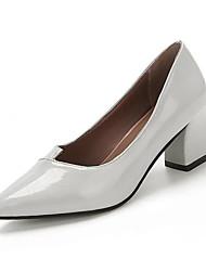 Розовый Фиолетовый Серый-Женский-Повседневный-Полиуретан-На низком каблуке-Удобная обувь-Обувь на каблуках