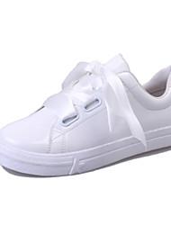 Damen-Sportschuhe-Outddor-PU-Flacher Absatz-Komfort-Weiß
