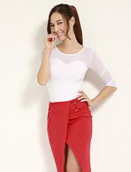 JoanneKitten® Women's Sexy Semi-Sheer ¾ Sleeve T-shirt