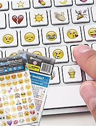 19sheets/set   Cute  Emoji Smile Sticker For Notebook Message High Vinyl Stickers