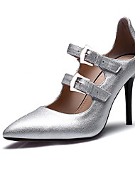 Women's Heels Spring Summer Fall Other Other Animal Skin Office & Career Party & Evening Dress Casual Stiletto Heel Buckle Pink Silver