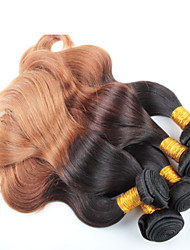 3 Pieces Body Wave Ombre Hair Wholesale Brazilian Hair, No tangle, No shedding and Soft Brazilian Ombre Hair