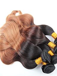 3 piezas de pelo de la onda del cuerpo del pelo ombre brasileña al por mayor, sin enredo, ninguÌ n vertimiento y pelo ombre brasileño