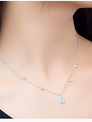 Pendants Sterling Silver Drop Basic Unique Design Dangling Style Fashion Silver Jewelry Daily Casual 1pc