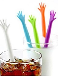 5Pcs/Set  Help Me Coffee Stirrer Stirring Rod Juices Spoon Bar Drink  Coffee Stir Stick