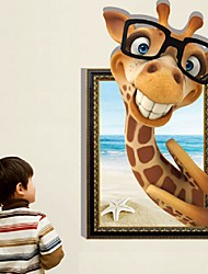 1Pcs 87Cm*57Cm The Giraffe Stereo Adornment Picture Children Room And Can Be Removed