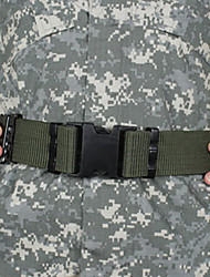 Canvas Wearproof Light Green Unisex Hunting Belt
