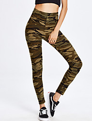 Women's Skinny Sweatpants Pants Casual/Daily Sports Sexy Active Camouflage High Rise Elasticity Spandex Stretchy All Seasons