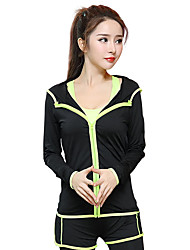 Women's Long Sleeve Running Hoodie Tops Breathable Quick Dry Sports Wear Yoga Exercise & Fitness Running Modal Polyester Loose