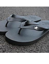 Herren-Slippers & Flip-Flops-Lässig-PUKomfort-Schwarz Blau Braun