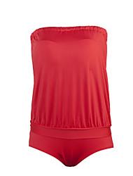 Damen Einteiler - Einfarbig Push-Up Polyester Halfter