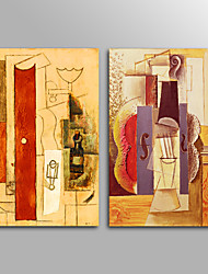 Canvas Print Abstract Modern Picasso StyleTwo Panels Canvas Horizontal Print Wall Decor For Home Decoration