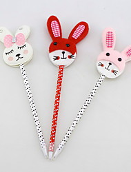 Easter Non-woven/Plastic Handmade Lovely Rubbit Craft BallPoint Pen(Two-sided)