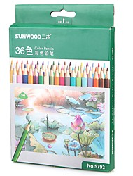 Sunwood®  5793 36 Color Pencil 36Pcs/Box