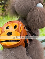 Dog Backpack Brown Dog Clothes Summer Cartoon Cute