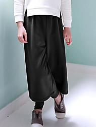 Girl School Solid Pants-Rayon All Seasons