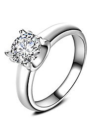 New Luxury  AAA Zircon Collection 925 Sterling Silver Wedding Engagement Ring Clear Fine Jewelry