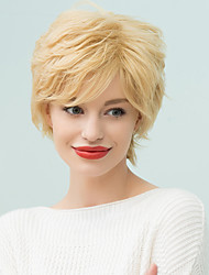 Short Pixie Side Bang Shaggy  Human Hair Wig