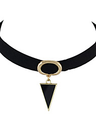 Necklace Choker Necklaces Tattoo Choker Jewelry Casual Basic Design Tattoo Style Alloy Leather 1pc Gift Black