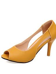 Damen-Sandalen-Kleid Lässig Party & Festivität-PU-Stöckelabsatz-Andere-Gelb Blau Rosa
