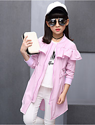Girl Casual/Daily Print Jacket & Coat,Cotton Rayon Summer Spring Long Sleeve