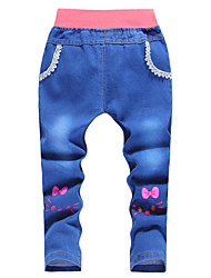 Baby Casual/Daily Solid Pants,Silk Winter Blue