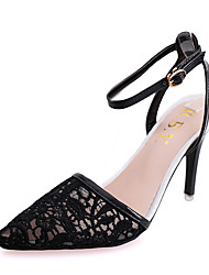Women's Sandals Summer High Heels Breathable Lace Shoes