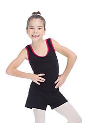 Ballet Tops Women's Children's Training Cotton Lycra Splicing 1 Piece Sleeveless Top ONLY