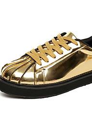 Herren-Sneaker-Lässig-KunstlederAndere-Schwarz Silber Gold