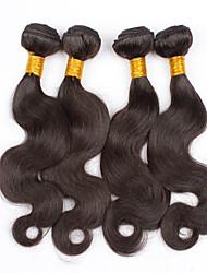 4pcs lote 26/08 polegadas 5a não transformados brasileiro virgem da onda corpo cabelo extensões de cabelo humano natural, tecer cabelo